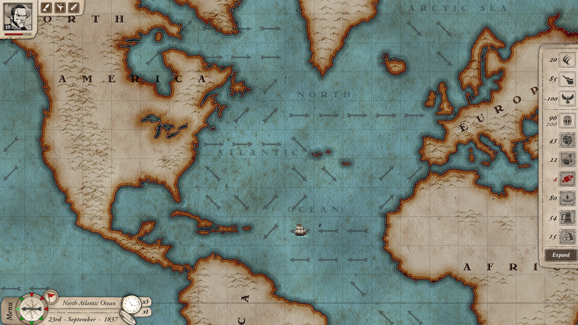 Winds on Map